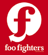 FOO FIGHTERS (RED/WHITE FLAG) Sticker