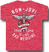 BON JOVI (BAD MEDICINE) Red