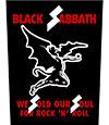 BLACK SABBATH (WE SOLD OUR SOULS) Back Patch