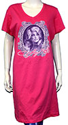 DOLLY PARTON (BUTTERFLY MIRROR) Womens Night Shirt/Dress