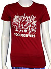 FOO FIGHTERS (CITY ON RED) Babydoll
