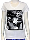 GEORGE MICHAEL (WITH GUITAR) Girls V-Neck Tee