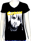 KURT COBAIN (COBAIN) Girls Tee V-Neck
