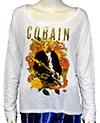 KURT COBAIN (PROFILE) Girls Tee Wide Round Neck, Long Sleeve