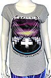 METALLICA (MOP) Girls Curved Hem Tee