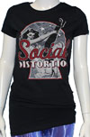 SOCIAL DISTORTION (NEWSPAPER PIN-UP) Girls Tee