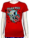 SUBLIME (SKULL WITH ROSES) Girls Tee