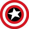 CAPTAIN AMERICA (SHIELD) Sticker