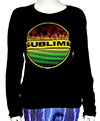 SUBLIME (PALMS AND STRIPES) Babydoll Long Sleeves