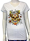 SUBLIME (COLORFUL SKULL) V-Neck Girls Tee