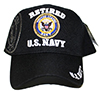 US. NAVY RETIRED (LOGO ON BLACK) Cap